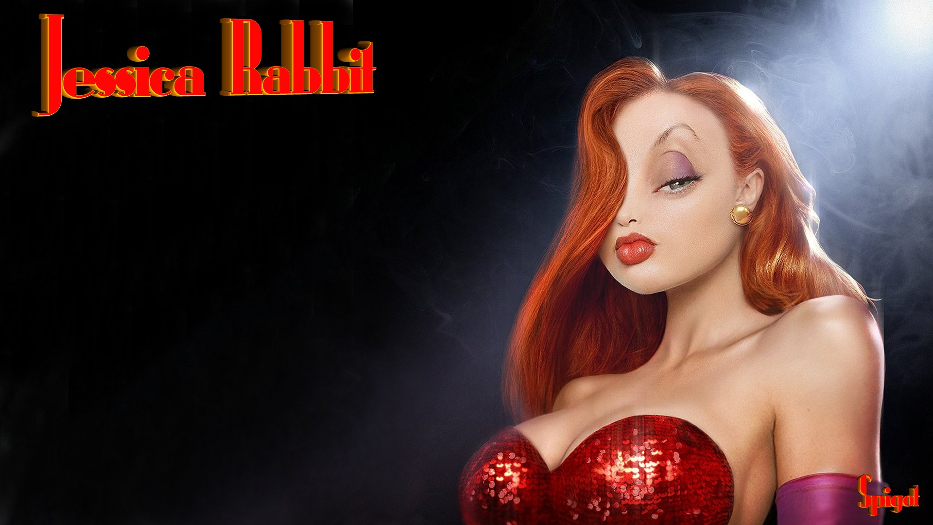 Jessica Rabbit 3D http://georgespigot.wordpress.com/2011/02/