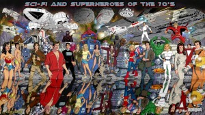 Sci-Fi and Superheroes of the 70's Wallpaper