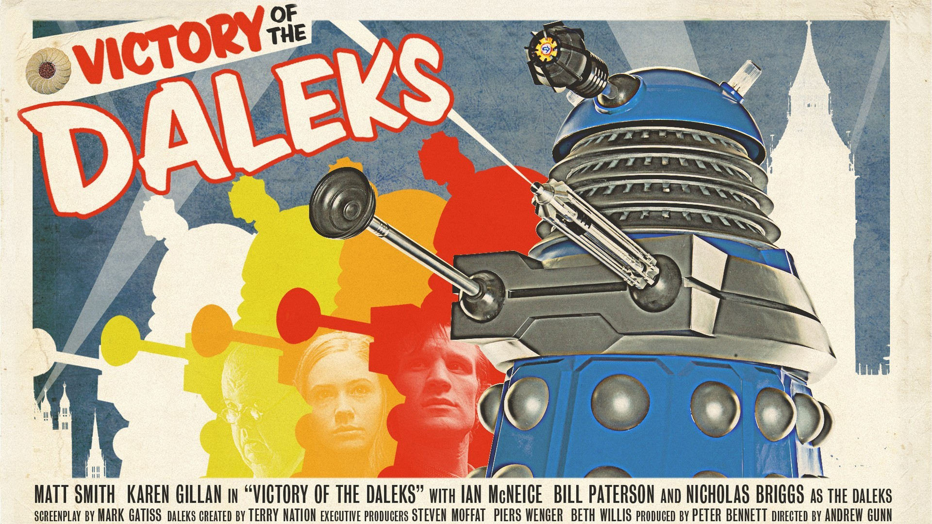 A Cracking New Dr Who Wallpaper In The Classic Movie Poster