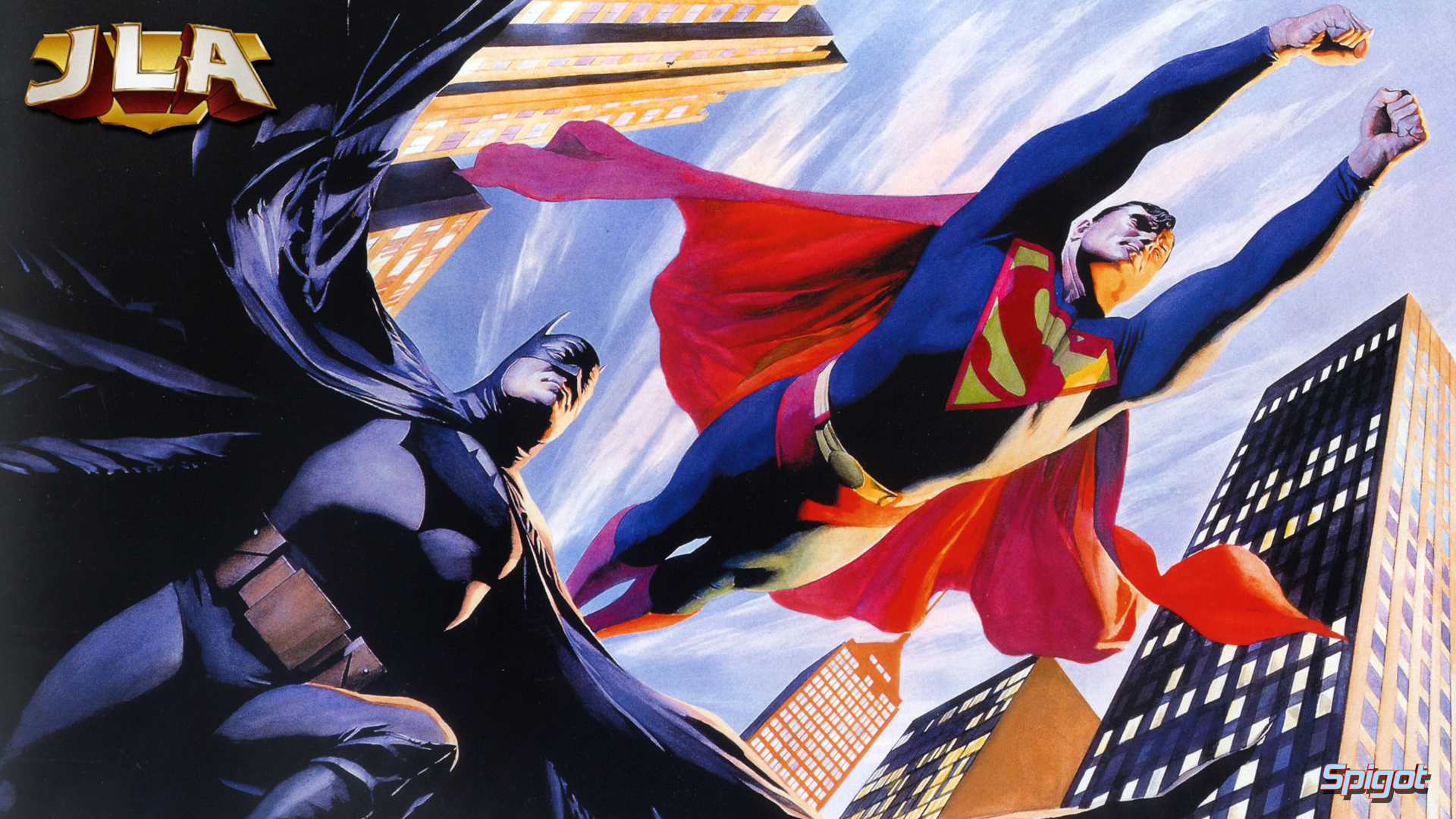 More justice league wallpapers george spigots blog yes more justice league wallpapers from art by alex ross voltagebd Gallery